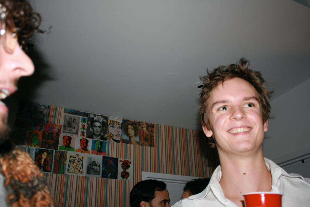 Cody Brown at a recent NYU Local Dance Party.