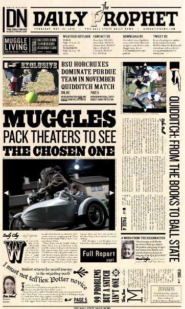 picture about Daily Prophet Printable known as Harry Potter One of a kind: Ball Region University student Designer Describes