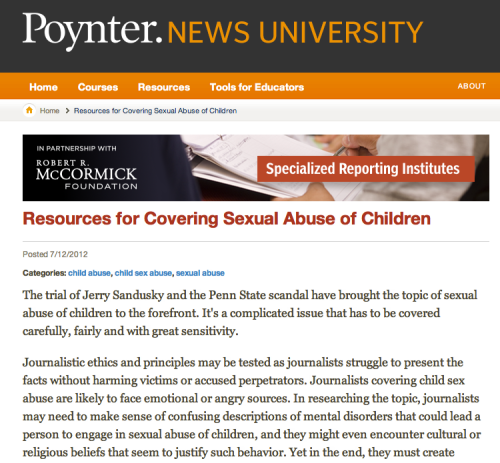 ... and writing stories involving incidences or issues of child sex abuse.